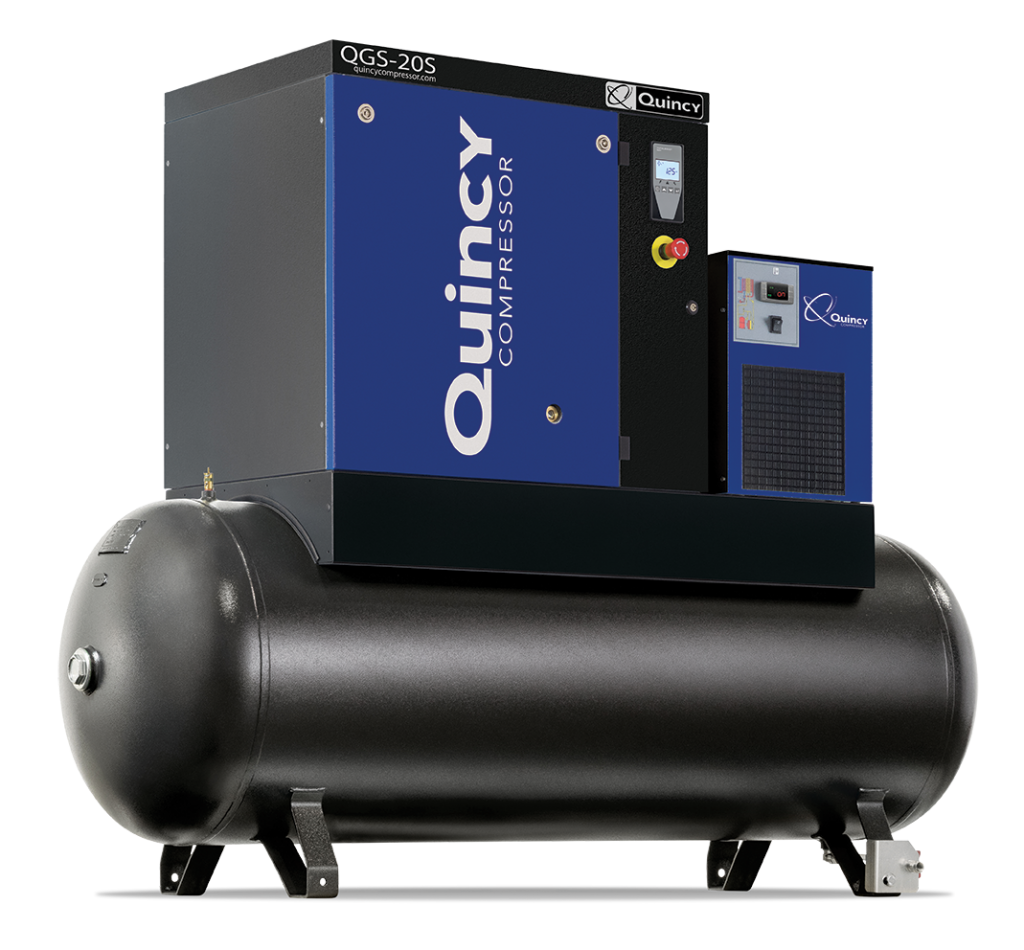 Rotary Screw Compressor : Quincy qgs series rotary screw compressor uswm