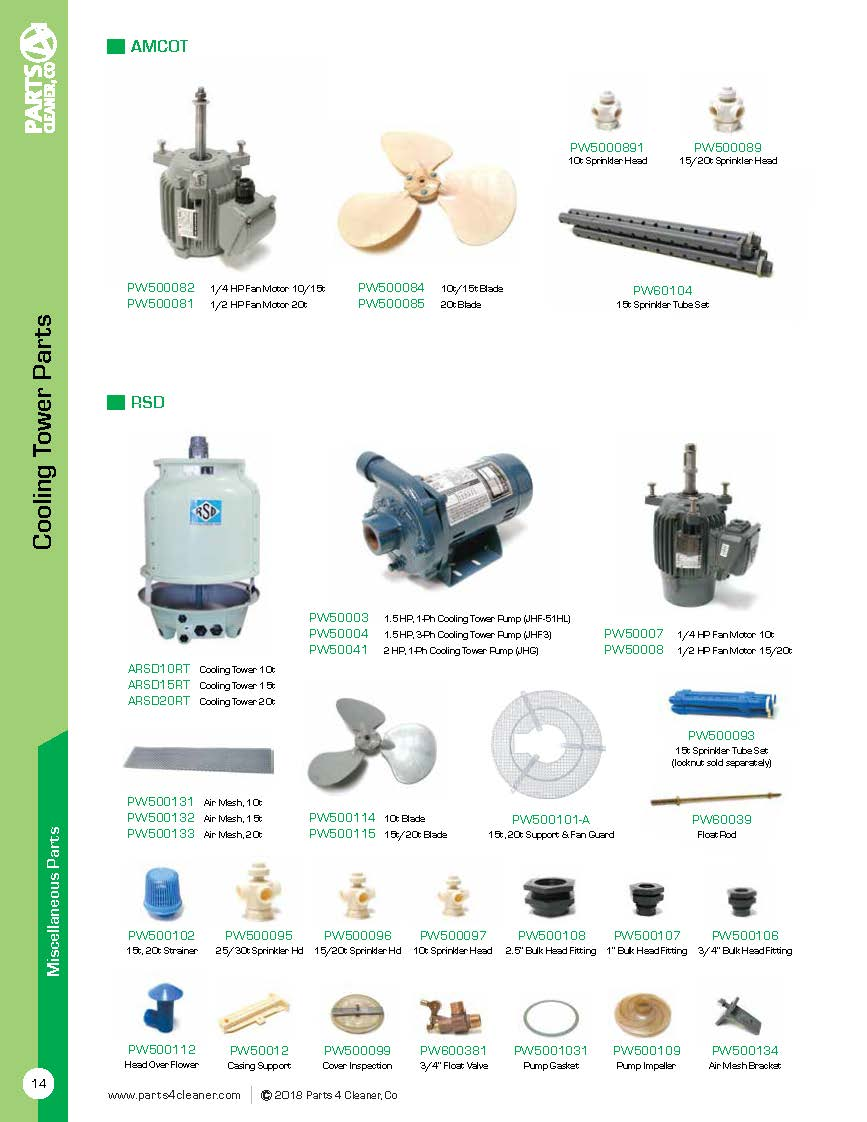 Miscellaneous Parts For Dryclean And Laundry Equipment Uswm